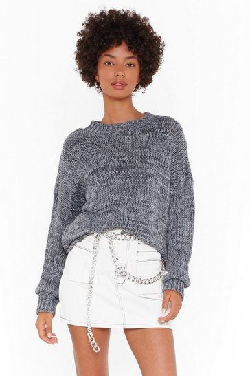 Womens Grey Before Knits Too Late Marl Knitted Sweater