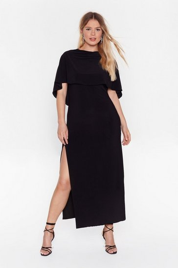 Black Fallen Angel Plus Maxi Dress
