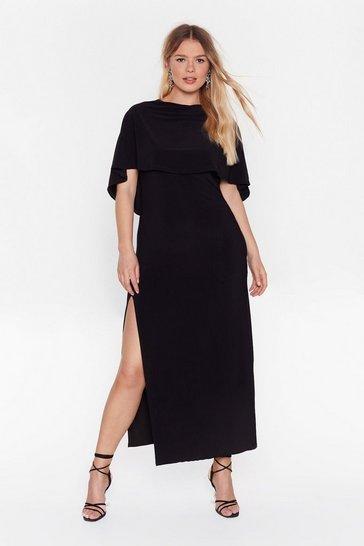 Black Fallen Angel Plus Maxi Dress