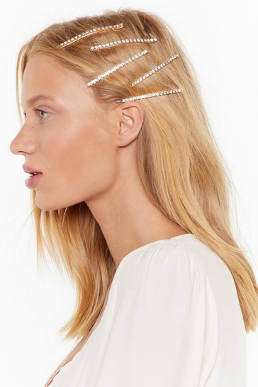 Gold Get a Grip 5-Pc Diamante Hair Slide Set