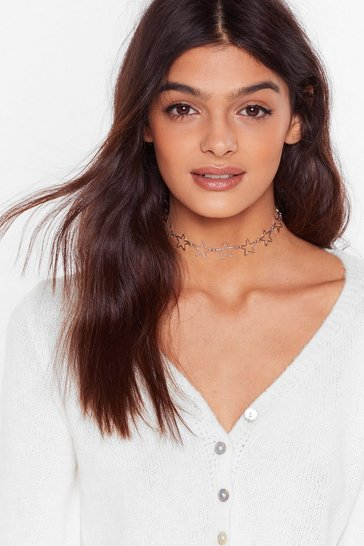 Silver A Star is Born Choker Necklace