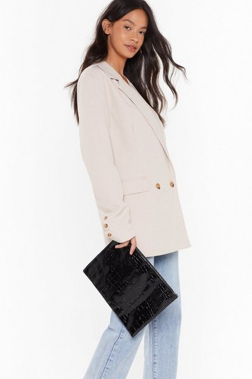 Black WANT Essentials in Hand Pouch Clutch Bag