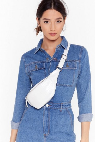 White WANT Don't Croc Believin' Fanny Pack