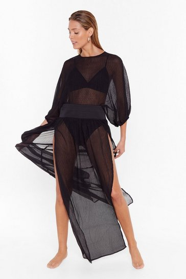 Womens Black Too Pool to Care Maxi Cover-Up Dress
