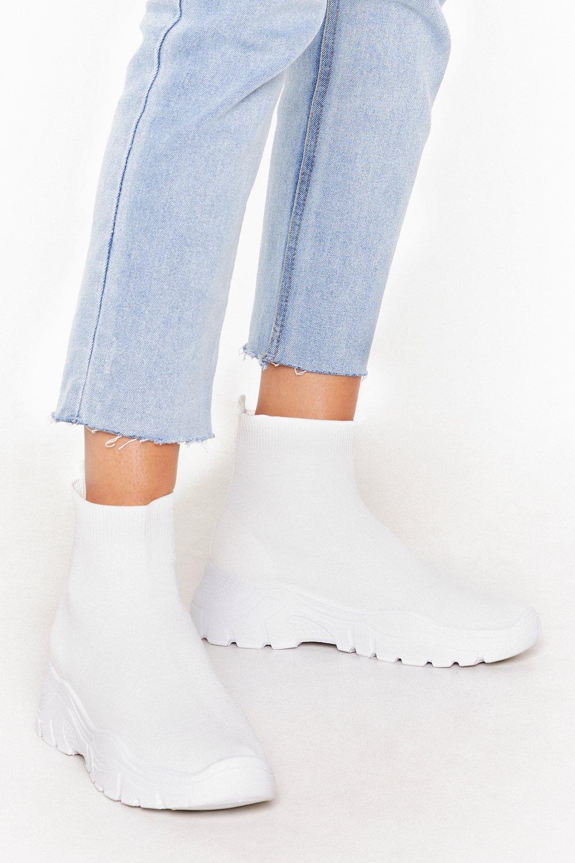 Sneak Peak Knitted Sock Sneakers