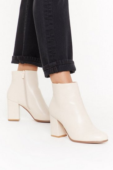 Womens Beige Boot Nothing Heeled Ankle Boots