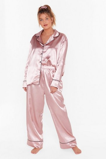 Rose gold Can You Just Fuck Off Plus 6-Pc Pajama Set