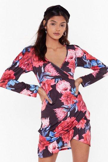 Blush The Life We Rose Floral Mini Dress