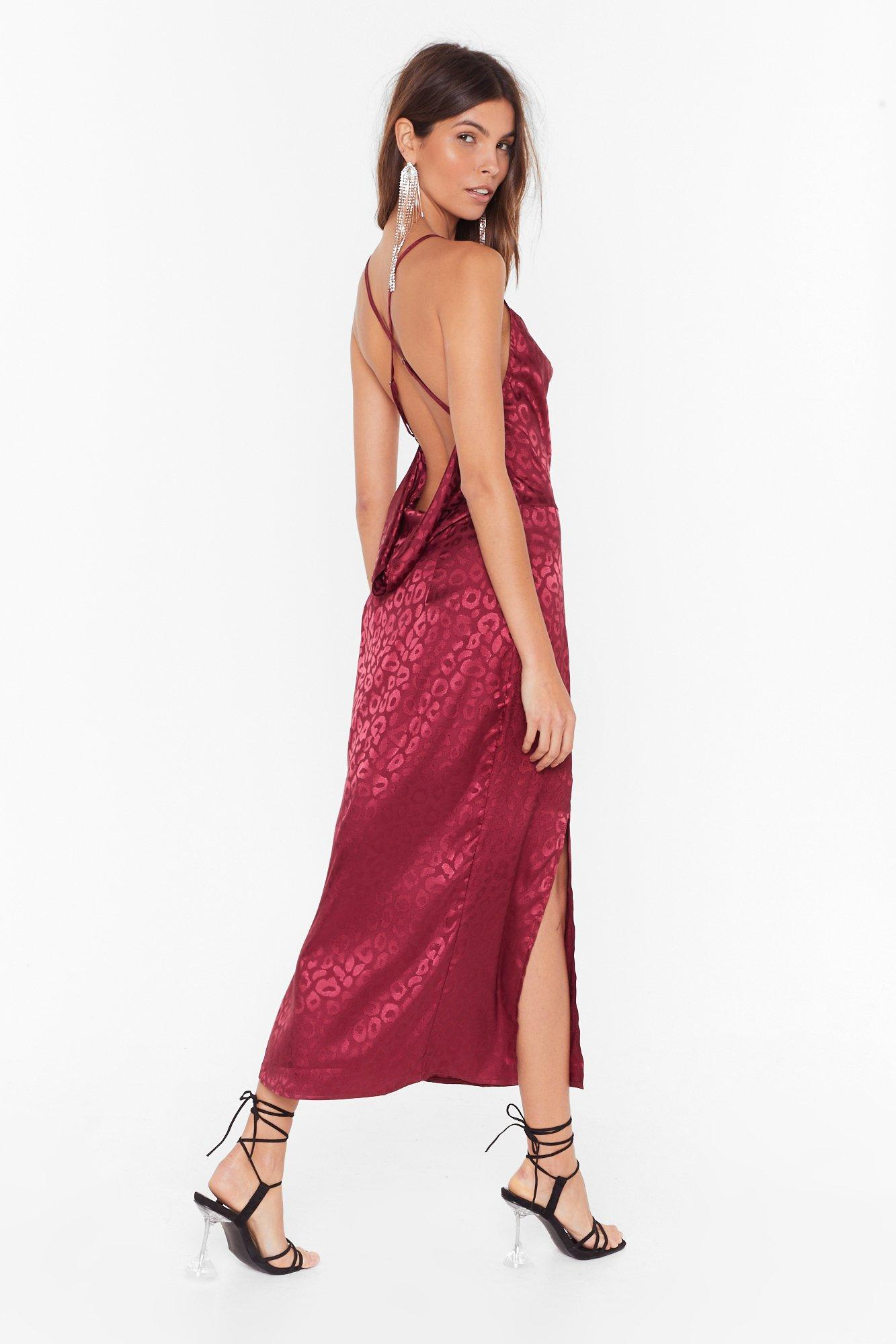 Prey Tell Cowl Midi Dress by Nasty Gal
