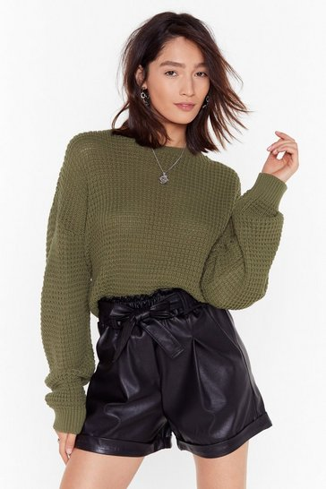 Lime You Crew Your Chance Relaxed Knit Sweater