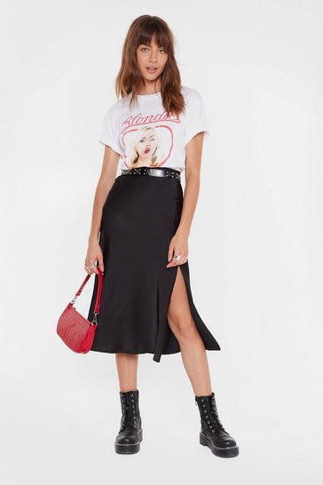 Black Days of the Sleek Button-Down Midi Skirt