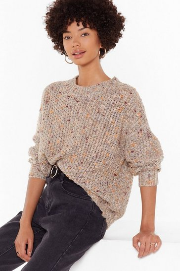 Womens Yellow Knit By Knit Crew Neck Jumper