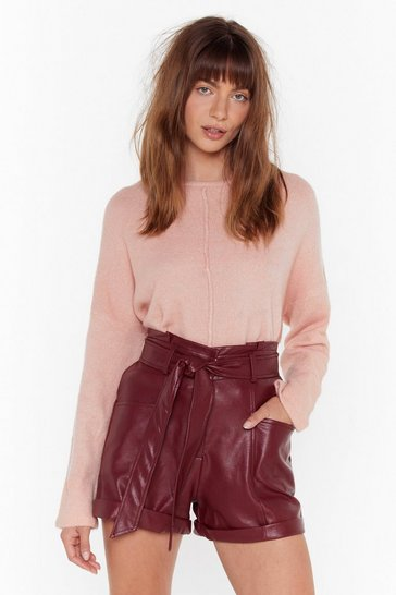 Pink Easy as It Seams Relaxed Knit Sweater