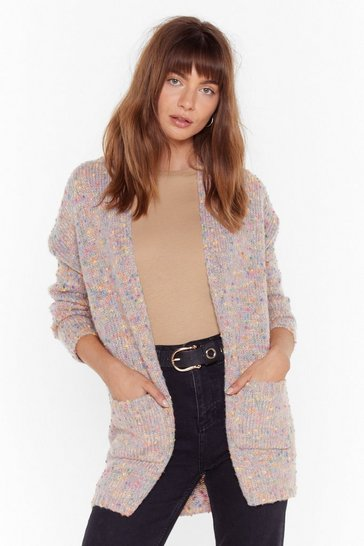Womens Pink Full of Bright Ideas Knitted Cardigan