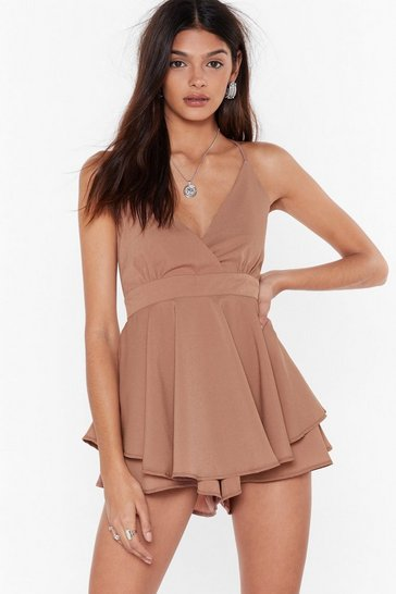 Rose Double Dare You V-Neck Romper