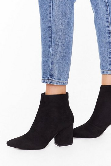 Womens Black Sock on Your Heels Wide Fit Ankle Boots