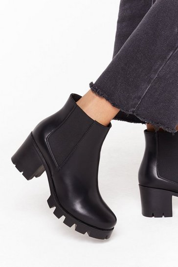 Black We Won't Be De-cleated Wide Fit Boots