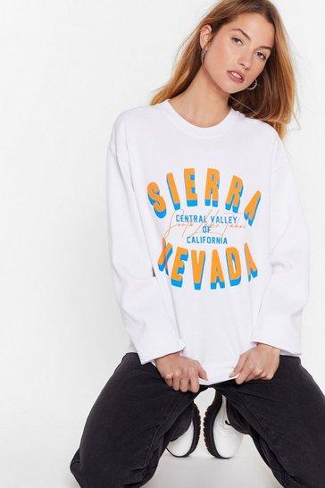 White Easy Rider Nevada Graphic Sweatshirt