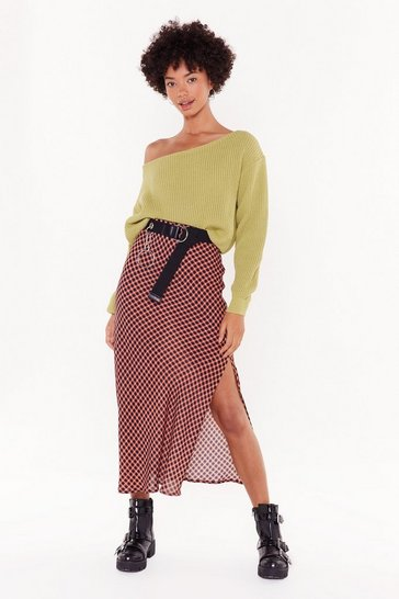 Womens Lime  somethings off the shoulder knit jumper