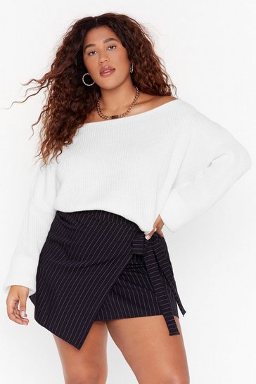 Womens White   PLUS somethings off the shoulder jumper