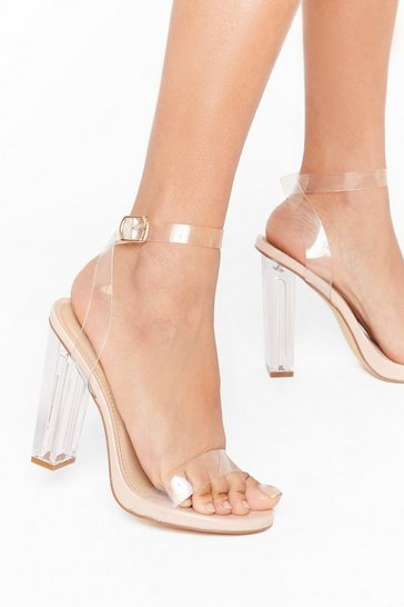 Nude Let's Be Clear Wide Fit Heels