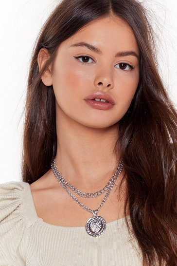 Silver They're Makin No Cents Layered Necklace
