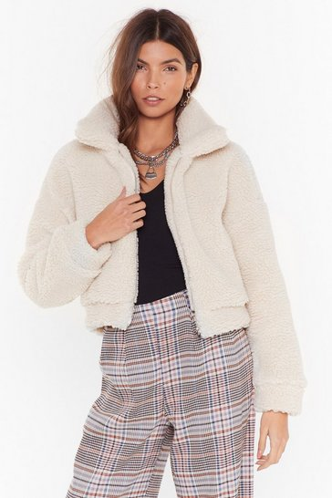 Cream Cozy Little Thing Called Love Faux Shearling Jacket