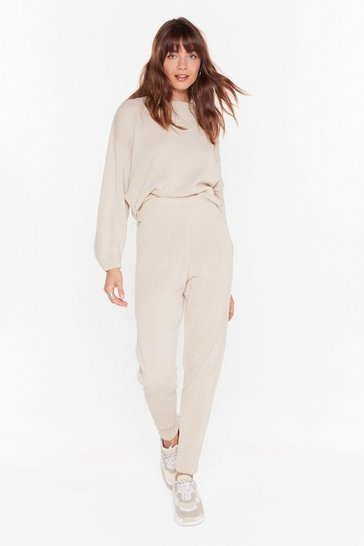 Stone Lounge What I Was Looking For Knitted Sweater and Jogger Set