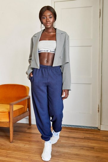 Black Woman's World Houndstooth Blazer