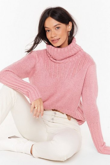 Womens Rose Can You Feel the Heat Turtleneck Sweater