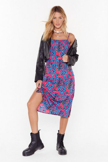 Pink Growing Us the Way Floral Midi Dress