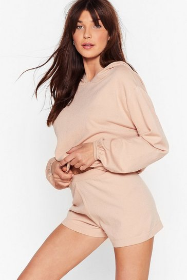 Nude Whatever Knit Takes Hoodie Lounge Set