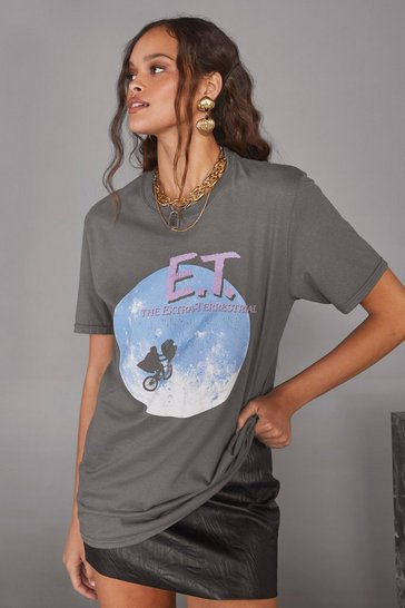 Charcoal E.T. the Extra-Terrestrial Graphic Tee