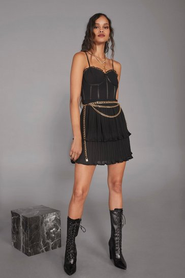 Womens Black Cara Delevingne Believe Corset Dress