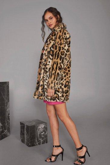 Wild Heart Leopard Faux Fur Coat