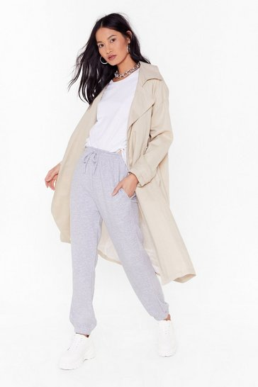 Womens Grey marl  boyfriend jogger