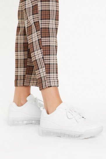 White Clear Your Mind Faux Leather Sneakers