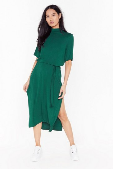 Forest Tee BT Belted Midi Dress