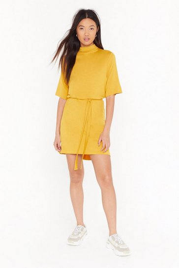 Womens Gold Tee BT Belted Mini Dress