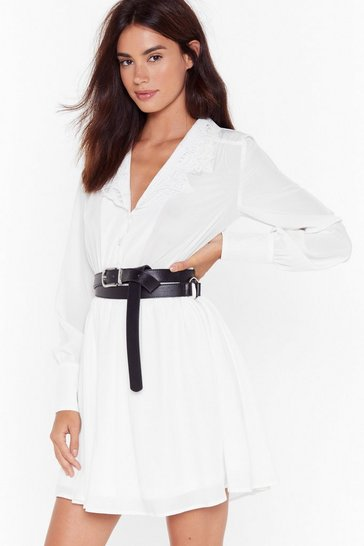 Black O-Ring the Bell Faux Leather Belt