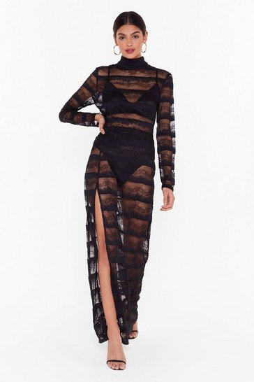 Womens Black Nasty Gal Studio Dancing in the Dark Lace Dress