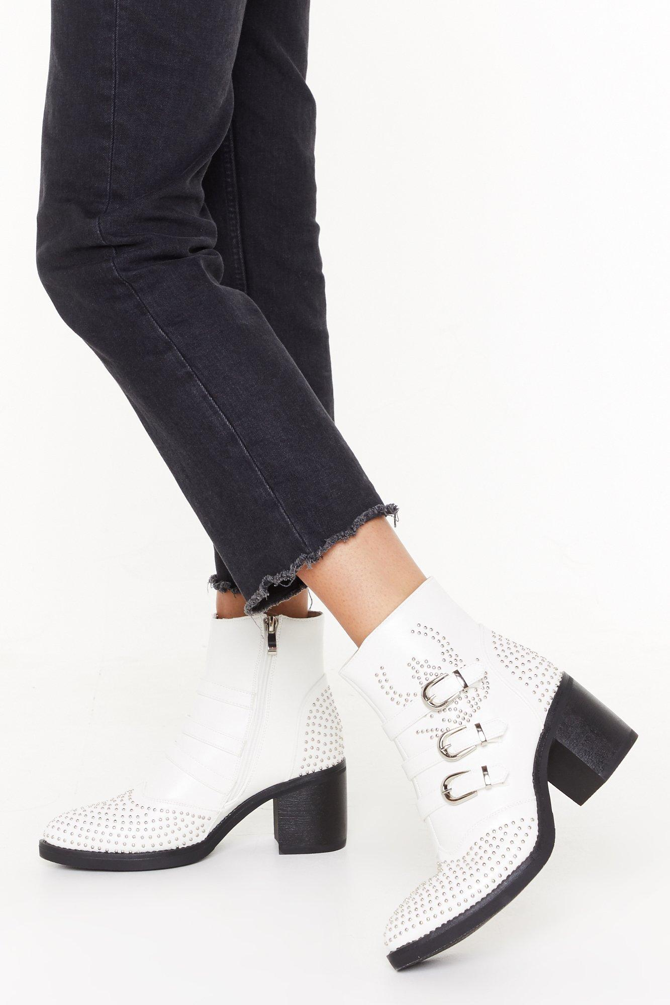 All Stud Girls Go to Hell Faux Leather Boots   Nasty Gal