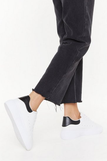 Womens Black It's Up to You Platform Trainers