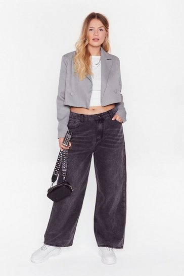Black Dru Wide-Leg Jeans