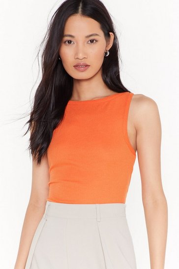 Womens Orange The Thrill of the Race-rback Vest Top