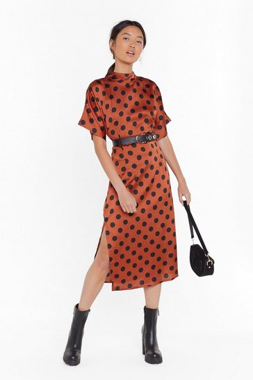 Womens Ginger Feeling Fine Polka Dot Midi Dress