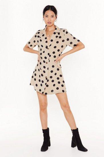 Stone Polka Dot Your Baby Mini Shirt Dress