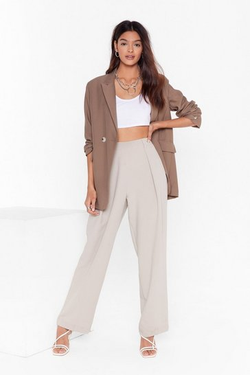 Womens Stone From Dart to Wide-Leg Pants
