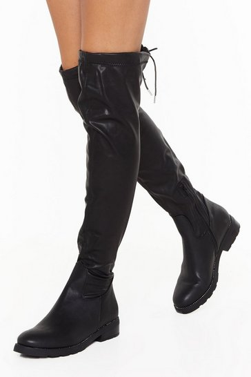 And Don't Knee Know It Faux Leather Boots