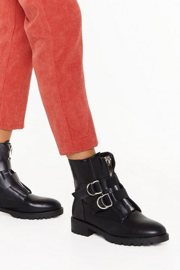 Black D-Ring is for Buckle Biker Boots